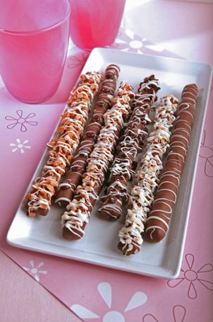 Aunt Flo's Chocolate Pretzel Rods